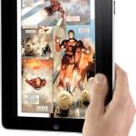 Holding the Apple iPad