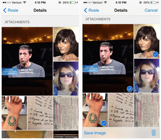iOS 8 View all Attachments