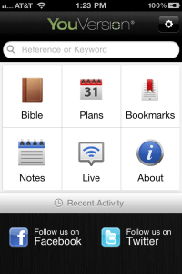 Most Used iPhone Apps | YouVersion Holy Bible 2