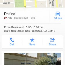 Google Maps iOS, Local Results